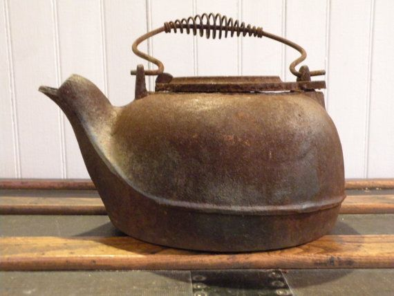 All about rusty cast iron tea kettle