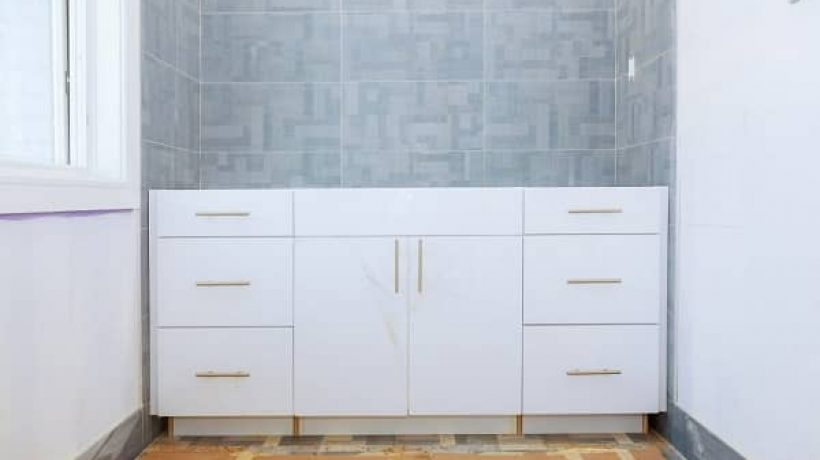 How to install a bathroom vanity?